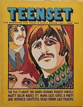 jimi hendrix magazine/teenset july 1968