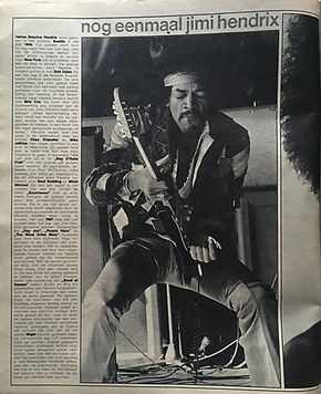 jimi hendrix collector magazines /muziek expres   Nov. 1970  / in memoriam