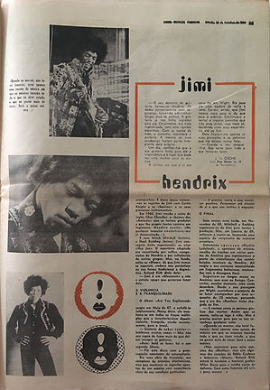jimi hendrix newspapers 1970 / cena sete :  october 10  1970