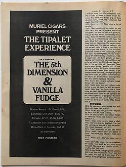 jimi hendrix magazine 1968/hendrix mitchell interveiw/ scene november 1968