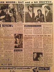 jimi hedrix newspaper 1967/newmusical express 20/5/67