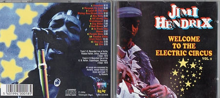 jimi hendrix bootlegs cd / welcome to the electric circus vol.2