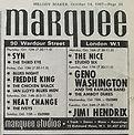 jimi hendrix collector memorabilia/marquee club jimi hendrix experience/24/10/1967