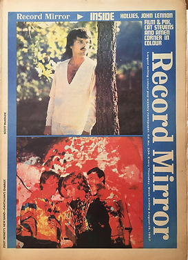 """jimi hendrix newspaper collector/record mirror 19/8/1967 """"burning of the midnight lamp"""""""