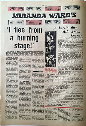 jimi hendrixcollector newspaprs/top pops N°6 usa trip jimi hendrix
