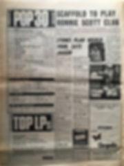 jimi hendrix newspaper 1968/melody maker november 23 1968 top 30