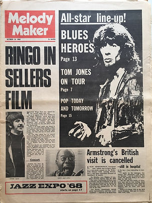 jimi hendrix newspaper 1968/melody maker  october 19 1968