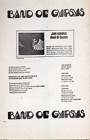 jimi hendrix memorabilia 1970 / band of gypsys ad
