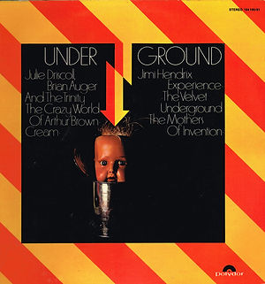 jimi hendrix vinyls 1969 /  underground 2lp