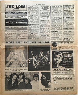 jimi hendrix newspaper 1968/new musical express december 28 1968