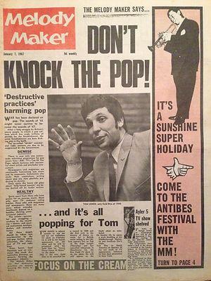 jimi hendrix newspaper/melody maker  7/1/67