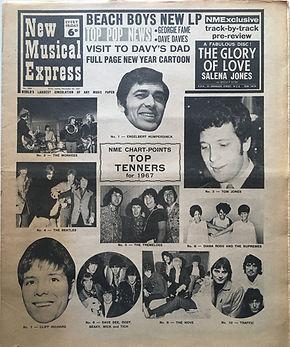 jimi hendrix newspapers/new musical express 30/12/1967