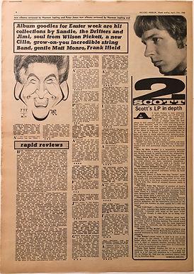jimi hendrix newspaper/record mirror april 13 1968/smash hits review