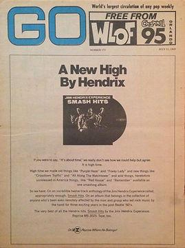 jimi hendrix rotily magazine 1969/go july 11,  1969