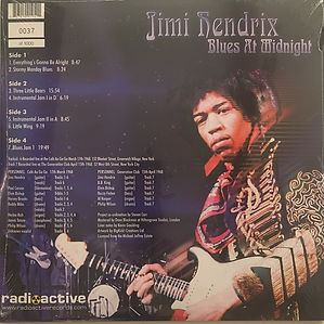 jimi hendrix vinyls bootlegs/blues at midnight /radioactive records
