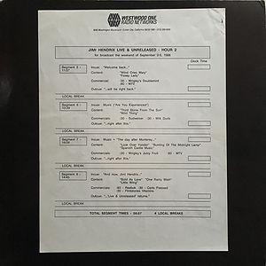 jimi hendrix vinyls album /  live & unreleased / westwood one records