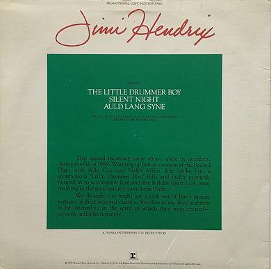 jimi hendrix maxi single vinyl/the little drummer boy... 1979