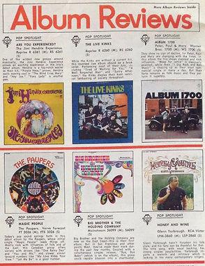 jimi hendrix magazines 1967 / album reviews : are you experienced ?