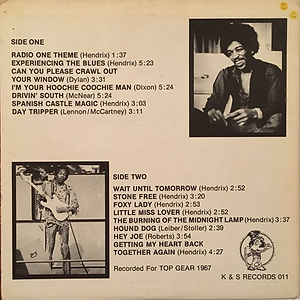 jimi hendrix collector bootlegs lp album/guitar hero k&s records 1980  2nd pressing usa