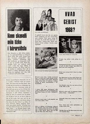 jimi hendrix magazine 1968 /  vikan february 15, 1968