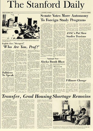 jimi hendrix newspaper 1969/the stanford daily oct. 3, 1969