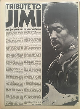 jimi hendrix collector magazines / rave Nov. 1970