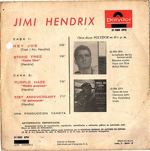 hendrix rotily /EP hey joe