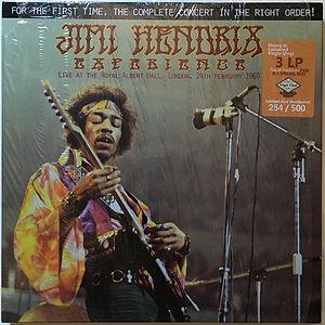 jim hendrix vinyl bootleg box/live at the royal albert hall 1969