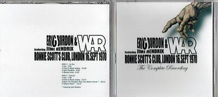 jimi hendrix bootlegs cd / eric burdon & war  featuring jimi hendrix