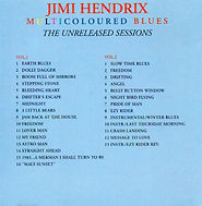jimi hendrix bootlegs cd / multicoloured blues 2cd luna records