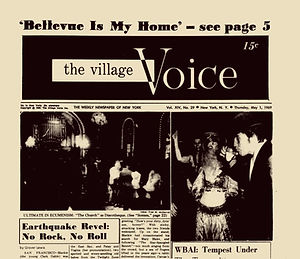 jimi hendrix newspapers 1969 / village voice may 1 1969
