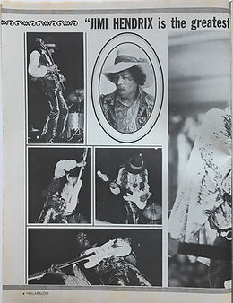jimi endrix magazine/hullabaloo september 1968