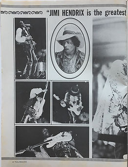 jimi endrix magazine/hullabaloo september 1968