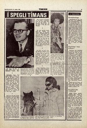 jimi hendrix newspapers 1968 / timinn january 10, 1968