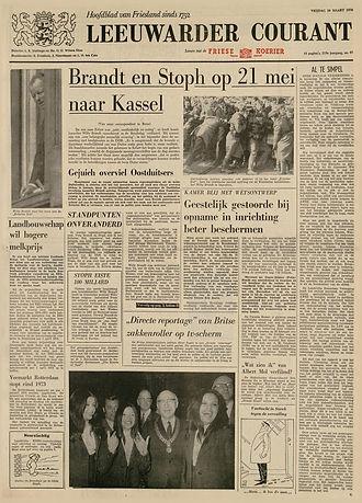 jimi hendrix newspaper 1970 / leeuwarder courant march 30,1970