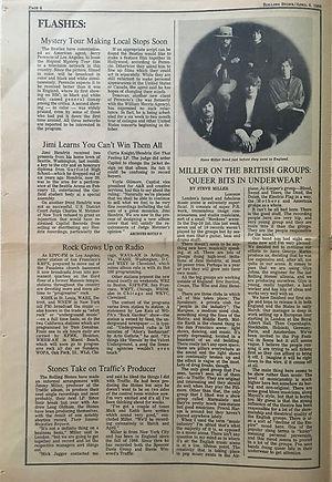 jimi hendrix newspaper/rolling stone april 6 1968/