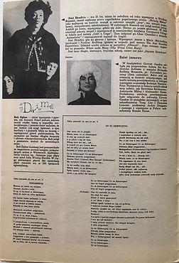 jimi hendrix magazine/spiewamy i tanczymy/atrakcje piosenkowe /1968 june