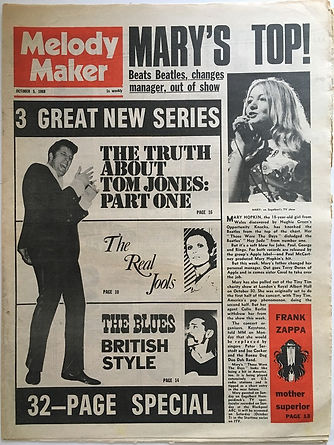 melody maker october 5 1968/jimi hendrix newspaper 1968