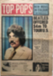 jimi hendrixnewspaper 1969/ top pops  march 8 1969