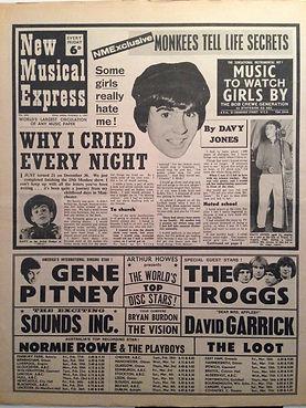jimi hendrix newspaper 1967 /  new musical express feb.4, 1967
