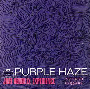 jimi hendrix rotily vinyl/purple haze/hey joe