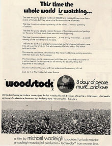 jimi hendrix memorabilia / woodstock ad