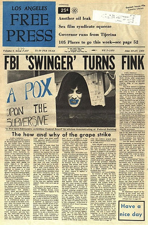jimi hendrix newspaper 1969/los angeles free press june 20, 1969