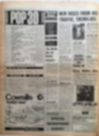 jimi hendrix newspaper/top ten lps melody maker june 22 1968/smash hits N°7