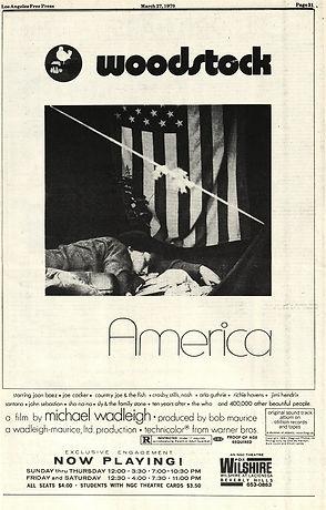 jimi hendrix newspaper 1970 /los angeles free press march 27 / april 2, 1970 woodstock ad