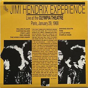 jimi hendrix vinyls bootlegs/live at the olympia theatre paris january 29,1968