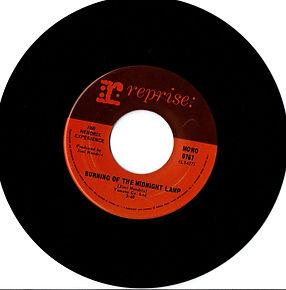 jimi hendrix collector vinyls singles 45r/burning of the midnight lamp mono canada 1968