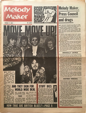 jimi hendrix collector newspapers/melody maker 7/10/1967