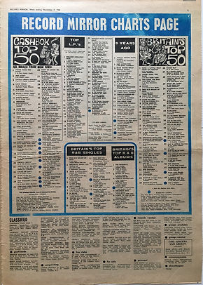 jimi hendrix newspaper 1968/ record mirror top 50/all along the watchotwer N°37