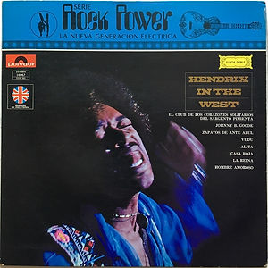 jimi hendrix vinyl album/in the west  mexico  1972